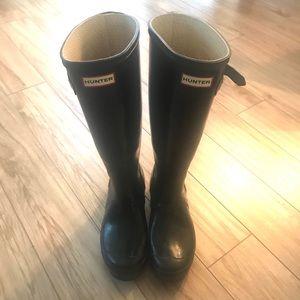 Hunter Tall Black Rain Boots